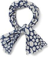 Blue Blue Japan Bassen Printed Linen Scarf - Indigo