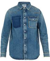 Valentino Rockstud Untitled #18 Denim Shirt