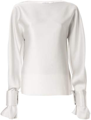 CHRISTOPHER ESBER slit long-sleeve blouse