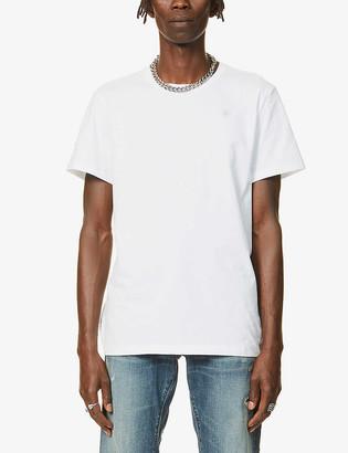 G Star Logo-embossed organic-cotton T-shirt