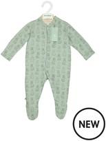 The Little Green Sheep The Little Green Sheep Wild Cotton Organic Sleepsuit - Rabbit 0-3months