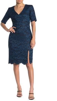Taylor Lace Scallop Hem Bonded Dress