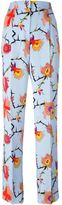 Emilio Pucci floral print trousers - women - Silk/Cotton - 38