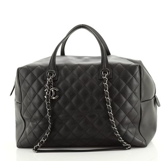Chanel Feather Weight Bowling Bag Quilted Calfskin Large