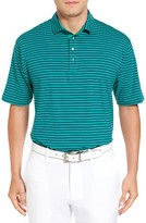 Bobby Jones Men's Liquid Cotton Feed Stripe Polo