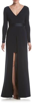 Vera Wang Women's Long Sleeve V Neck Dress