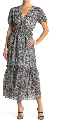 NSR Ruby Floral Tiered Dress