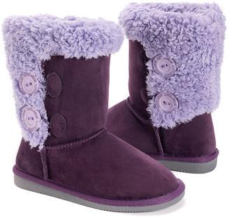 Muk Luks Girls' Casual boots Light - Light Purple Matilda Button Boot - Girls