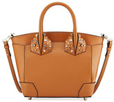 Christian Louboutin Eloise Small Leather Tote Bag, Brown