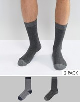 Selected Homme 2 Pack Sock In Herringbone