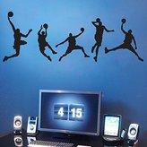 Aiwall 4020 Four Basketball Game Sport Players Basketball Wall Art Decor Sticker Excellent Quality