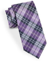 Black Brown 1826 Classic Plaid Tie