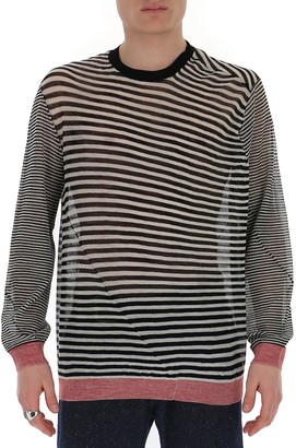 Ann Demeulemeester Striped Knitted Sweater