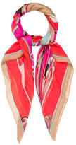 Emilio Pucci Abstract Print Sheer Scarf