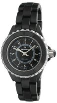 Peugeot Women's PS4895BK Swiss Ceramic Black Sport Bezel Watch