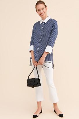 No Less Than Contrast Collar Buttondown