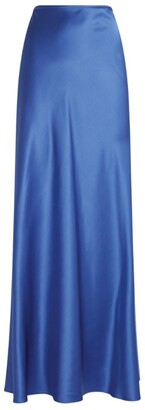 St. John Silk Maxi Skirt