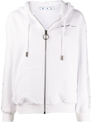Off-White Puzzle zip-up hoodie