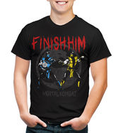 JCPenney Novelty T-Shirts Mortal Kombat Finish Graphic Tee