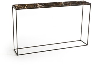 Am.pm. AMBRETTE Marble & Metal Console Table