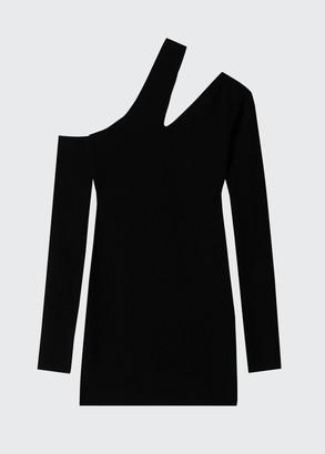 Nanushka Shani One-Shoulder Cutout Mini Dress