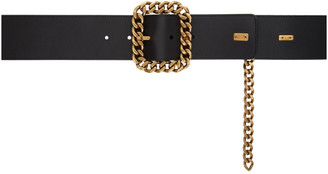 Saint Laurent Black St Sulpice Chain Belt