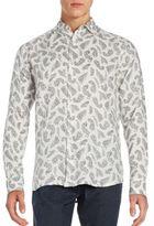 Saks Fifth Avenue Paisley Print Linen Shirt