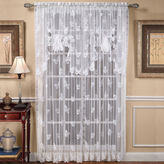 JCPenney Butterfly Lace Rod-Pocket Curtain Panel