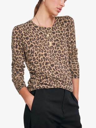 Hush Renata Leopard Print Jumper, Brown Leopard