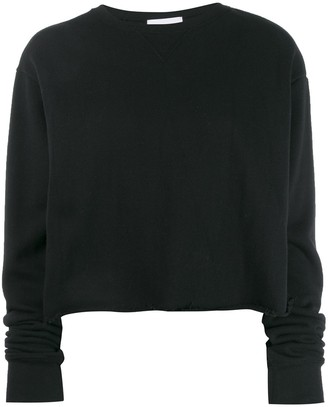 John Elliott Snyder cropped crew neck sweatshirt