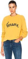 Frame Old School Los Angeles Sweatshirt in Yellow.