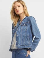 Gap Icon raw collar denim jacket