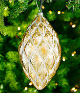 Southern Living Homestead Holidays Collection Oversized Pinecone Silver Drop Ornament