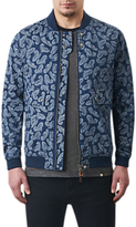 Pretty Green Forrester Paisley Bomber Jacket, Blue