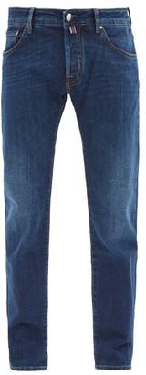 Jacob Cohen Logo Pocket Scarf Mid-rise Jeans - Dark Blue