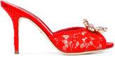Dolce & Gabbana crystal embellished mules - women - Leather/Viscose - 35