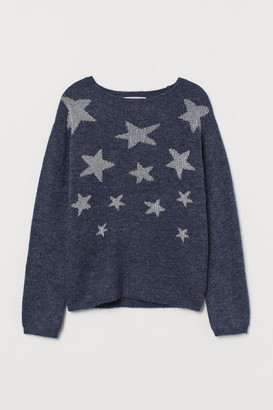 H&M Fine-knit Sweater - Blue