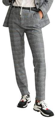 MANGO Checkered Suit Pants