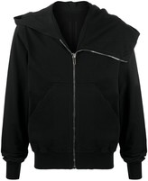 Rick Owens zip-up cotton hoodie
