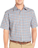 Arrow Short-Sleeve Corded Plaid Shirt