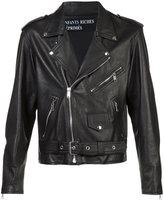 Enfants Riches Deprimes belted biker jacket
