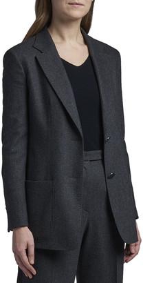 Giorgio Armani Stretch Wool-Cashmere Two-Button Jacket w/ Patch Pockets