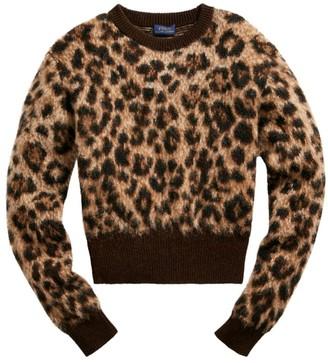 Polo Ralph Lauren Leopard Print Wool-Blend Sweater