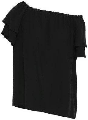 Vanessa Seward Off-the-shoulder Ruffled Crepe Top