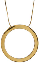 Argentovivo Thick Circle Pendant Necklace