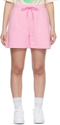MSGM Pink Sweat Shorts