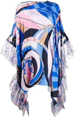Emilio Pucci Wally print ruffled dress