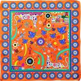 Cyclades Silk Scarf Friendship Orange
