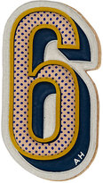 "Anya Hindmarch Women's ""6"" Sticker-YELLOW, NUDE"
