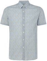 Peter Werth Men's Myer Floral Print Cotton Shirt Sky Blue